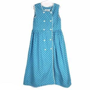 Strasburg Double Button Plaid Sleeveless Dress 6